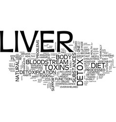 Liver detox diet text background word cloud vector