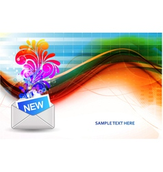 mail icon with swirls vector image vector image