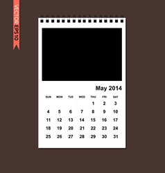May 2014 calendar vector image vector image