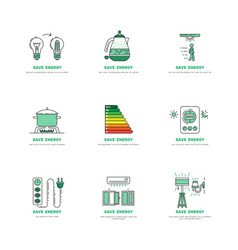 Save electricity house vector