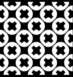Seamless pattern crosses circles vector