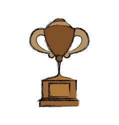 Tennis trophy cup vector