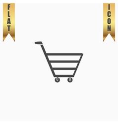 Trolley market flat icon vector