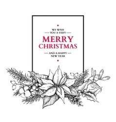 Christmas garland hand drawn vector image