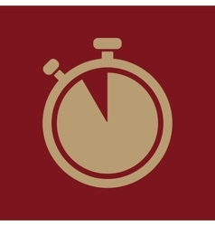 The stopwatch icon countdown symbol flat vector
