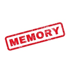 Memory rubber stamp vector