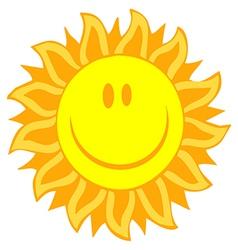 Smiling sun vector