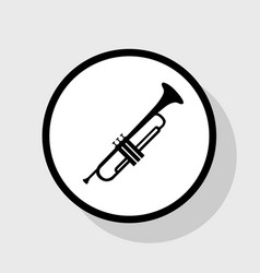 Musical instrument trumpet sign  flat vector