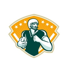 American football runningback crest vector