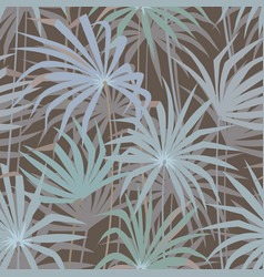 Tropical palm leaves seamless pattern vector