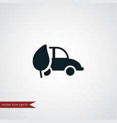 Eco car icon simple vector