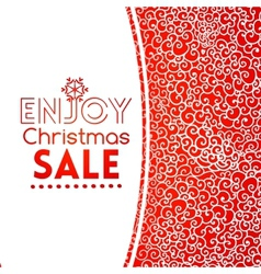 Christmas sale doodle seamless pattern like lace vector