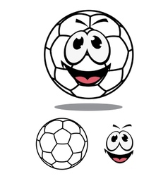 Happy soccer or football ball character vector