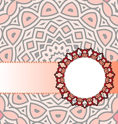 Frame red mandala vector