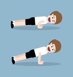 Push up exercise vector