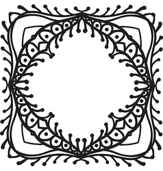 Hand drawing zentangle decorative frame vector image