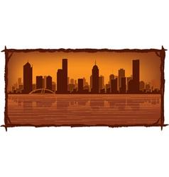 Melbourne australia skyline vector