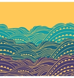 Three waves horizontal vector