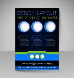 Editable template of flyer for business brochure vector