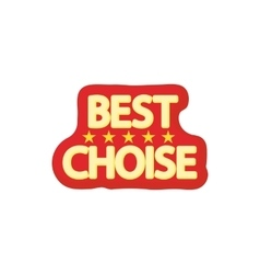 Best choice icon cartoon style vector
