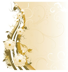 Vintage background with floral vector