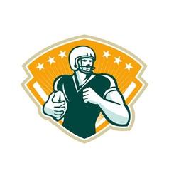 American football runningback crest vector