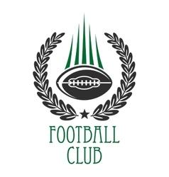 American football sporting club heraldic insignia vector image vector image