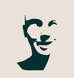Beautiful smiling woman face vector