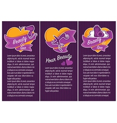 Beauty banners vector