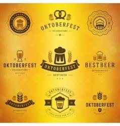 Beer festival oktoberfest labels badges and logos vector