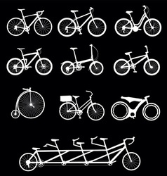 Bicycles set vector image