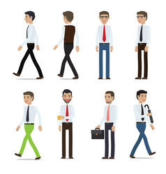 Businessmen cartoon characters collection vector