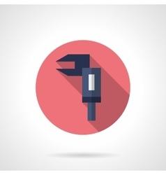 Calliper round flat icon vector
