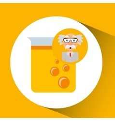 character man scientist filled test tube vector image