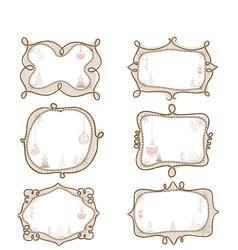 Christmas doodle frame vector