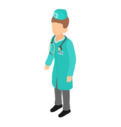 doctor icon isometric 3d style vector image