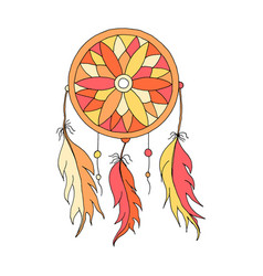 dreamcatcher color hand to draw vector image