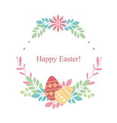 easter card on white background flowers plants vector image vector image