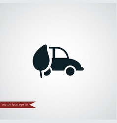 Eco car icon simple vector