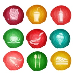 Fast food icon watercolor vector image