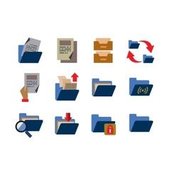 Folder icons vector
