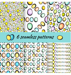 Hand drawn easter eggs pattern on white vector