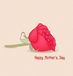 Happy mothers day with rose flower vector