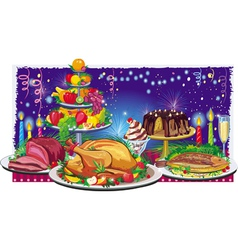 holiday dinner vector image vector image