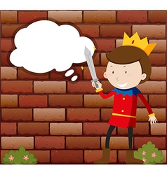 Little Prince holding sword vector image