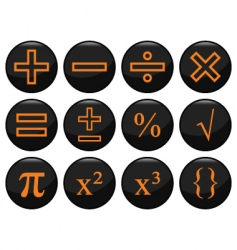 mathamatics icons vector image