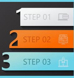 Modern 3 steps infographics vector