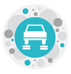 Of car symbol on service icon vector