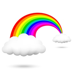 Rainbow and clouds vector
