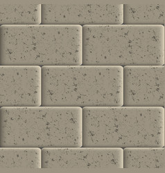 Seamless background of sidewalk tiles vector